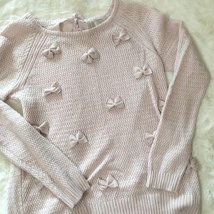 LC Lauren Conrad Runway Bow Soft Sweater